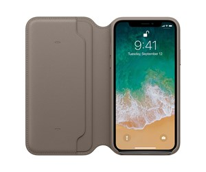 MQRY2ZM/A - Apple iPhone X Leather Folio - Taupe