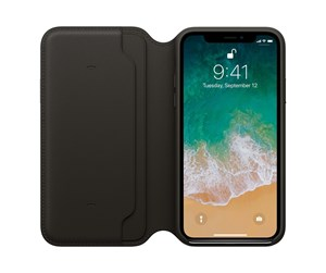 MQRV2ZM/A - Apple iPhone X Leather Folio - Black