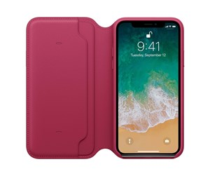 MQRX2ZM/A - Apple iPhone X Leather Folio - Berry