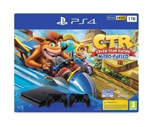 711719936206 - Sony PlayStation 4 Slim Black - 1TB (Crash Team Racing Nitro-Fueled - 2 Dual Shock)