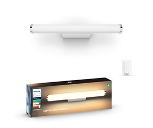 915005739301 - Philips Hue Adore Bathroom Wall Lamp - White