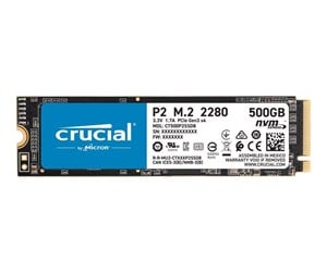 CT500P2SSD8 - Crucial P2 M.2 NVMe - 500GB