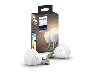 929002440602 - Philips Hue White E14 Luster P45 Bulb - BT - 2-Pack