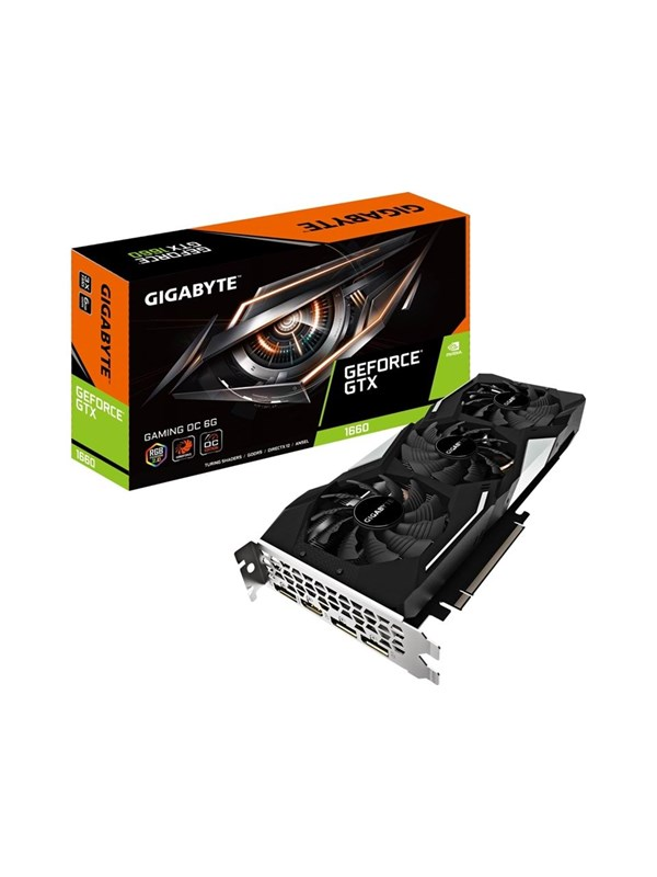 GIGABYTE GeForce GTX 1660 GAMING OC - 6GB GDDR5 - Grafikkarte GV-N1660GAMING OC-6GD